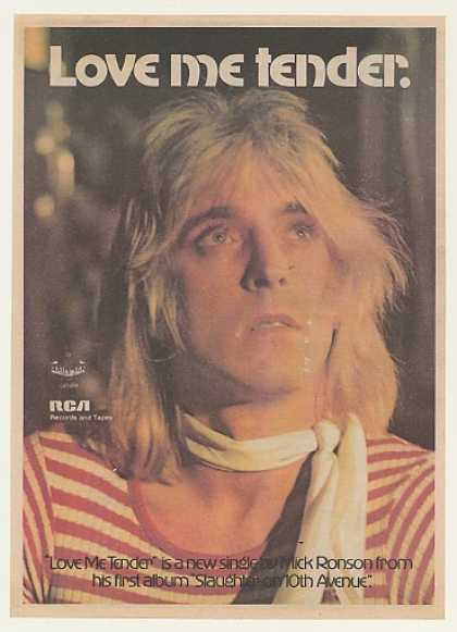 Mick Ronson Love Me Tender RCA Records (1974)