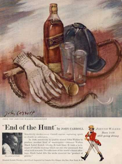 Johnnie Walker End of Hunt Carroll Art (1957)