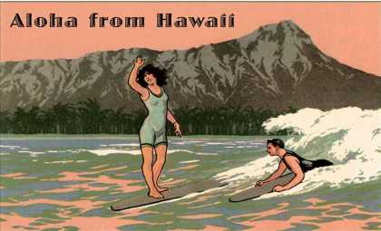 Aloha from Hawaii, Old Fashioned Surfers