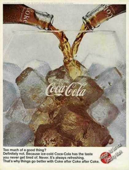 "Coca-cola ""Too Much of a Good Thing?"" Coke (1966)"