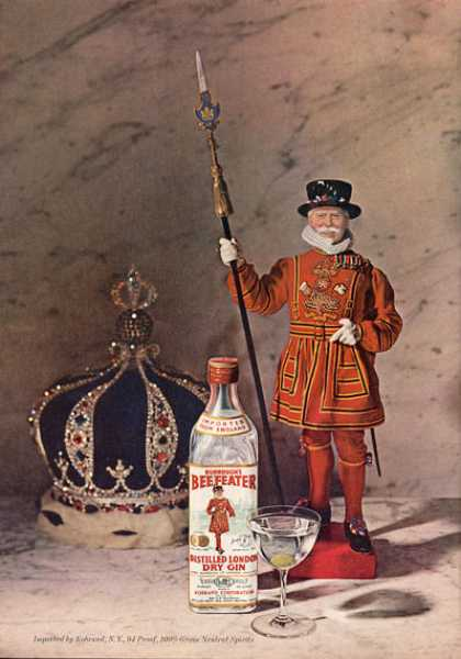 Burroughs Beefeater's Dry Gin Crown Guard (1963)