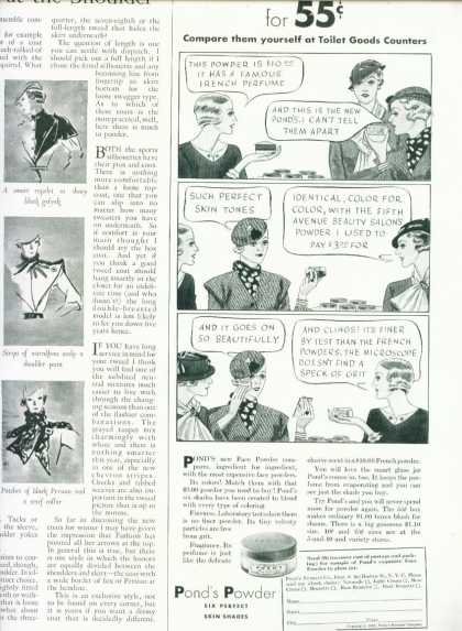 Pond's Face Powder 1/2 Page (1933)