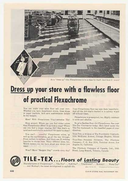 Tile-Tex Flexachrome Vinyl Asbestos Store Tile (1955)