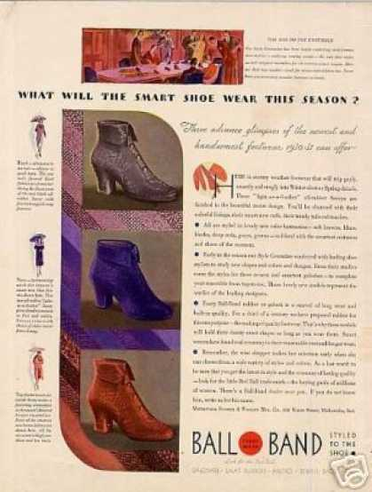 Ball Band Shoes Color (1930)