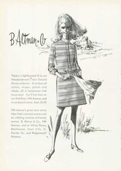 B Altman Co Donald Davies Collection Fashion (1968)