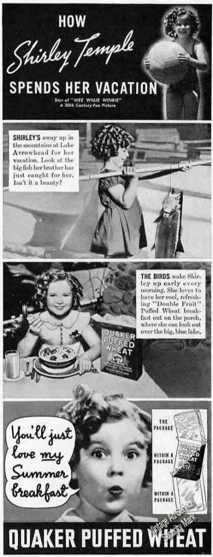 Shirley Temple Photos Quaker Puffed Wheat (1937)