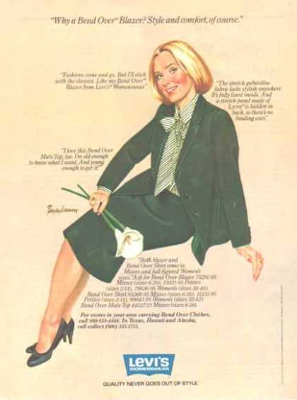 LEVI'S – Lee's Womenswear – Why a Bend Over Blazer? (1982)
