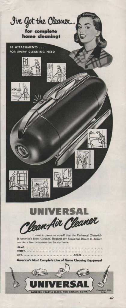 Universal Clean Air Vacuum Cleaner Print A (1951)