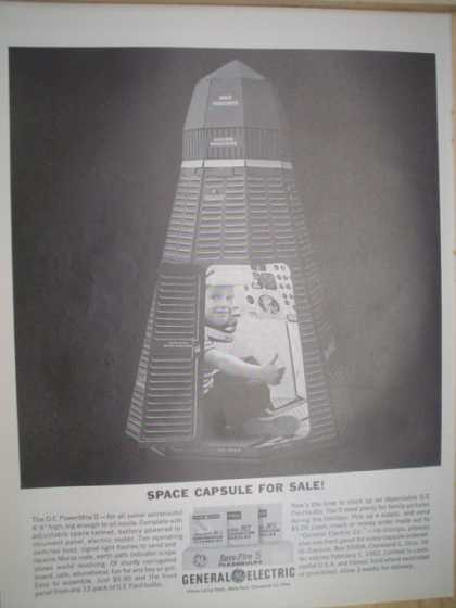 General Electric GE. Space capsule for sale (1961)