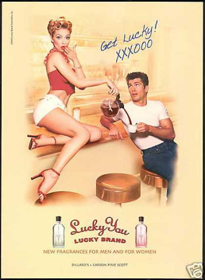 Lucky You Brand Cologne Sexy Waitress Coffee (2001)
