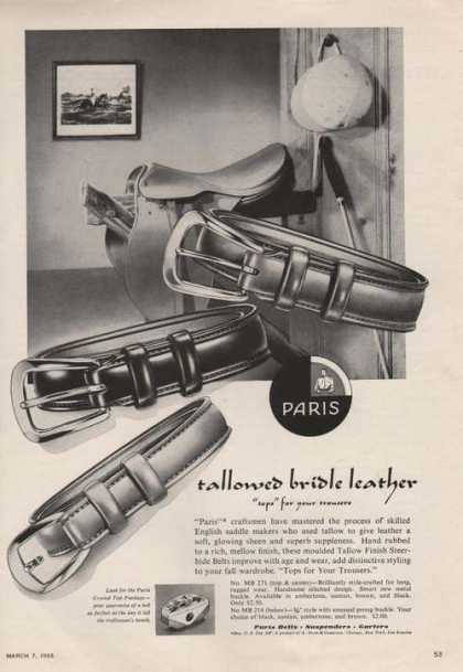 Paris Tallowed Bridle Leather Belt (1955)