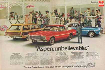 Dodge Aspen Car – Rex Harrison Aspen, Unbelievable (1976)