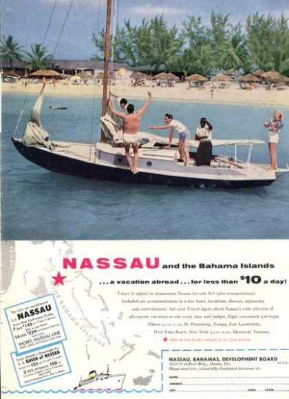 Nassau and the Bahama Islands Sailboat (1956)