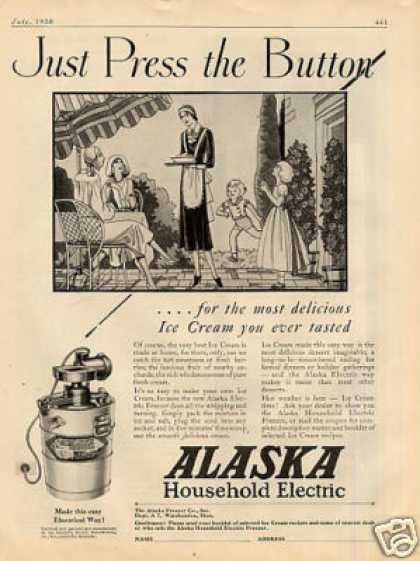 Alaska Electric Ice Cream Freezer (1930)