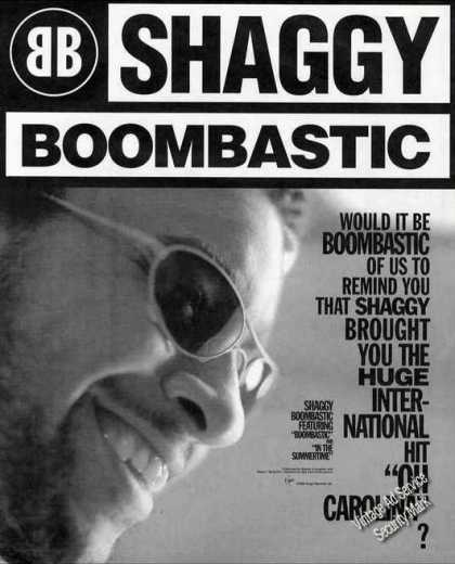 Shaggy Boombastic Photo Collectible Music (1995)