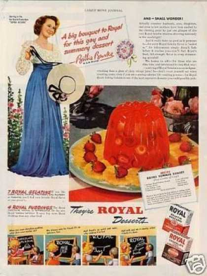 Royal Desserts Ad Billie Burke (1941)