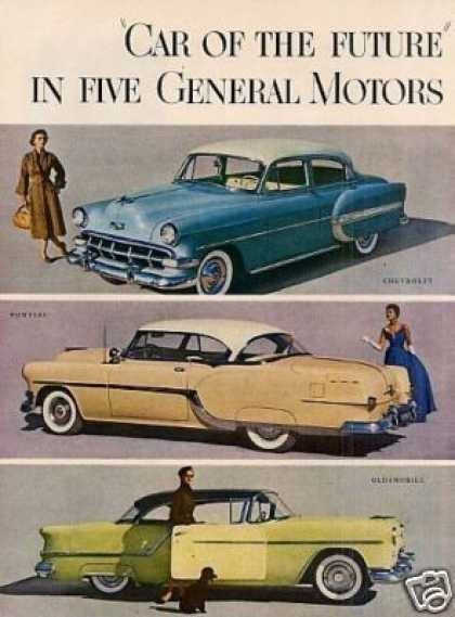 General Motors Cars Ad 2 Page (1954)