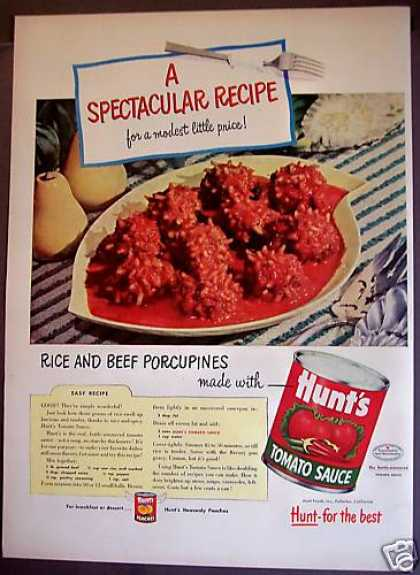 Hunt's Tomato Sauce Rice & Beef Recipe (1953)