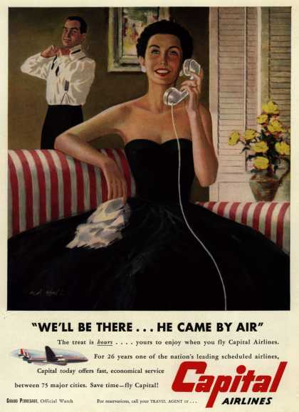 "Capital Airlines – ""We'll Be There... He Came By Air"" (1953)"