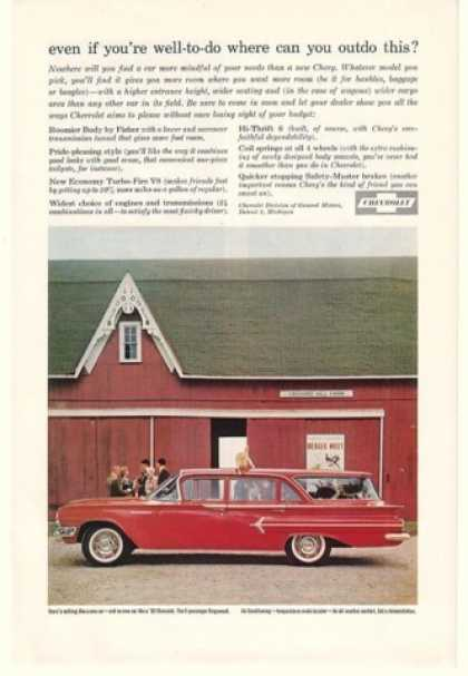 Chevy 9-Passenger Kingswood Station Wagon Barn (1960)