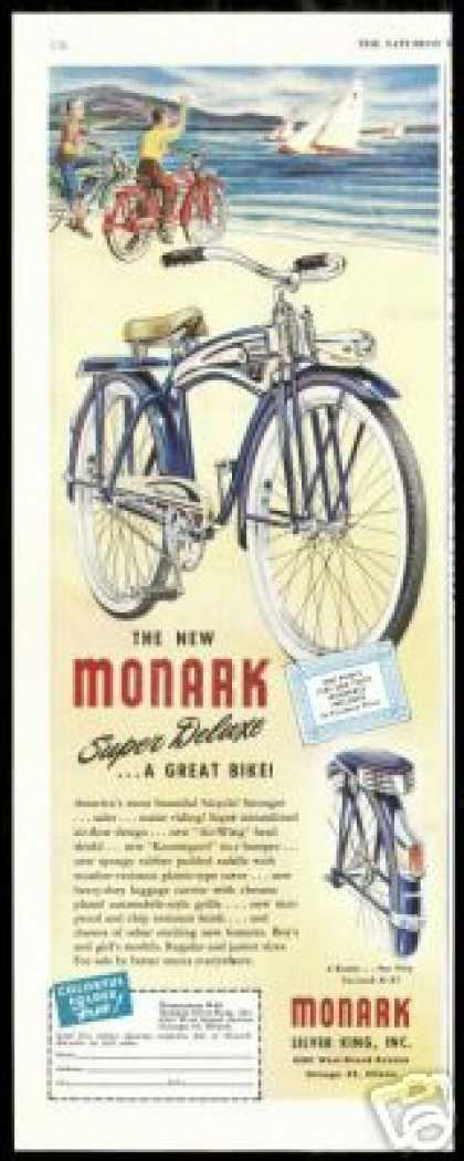 Monark Super Deluxe Bike Bicycle Vintage (1948)