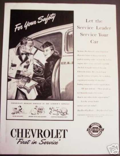 Chevrolet Chevy Car Service Art (1945)