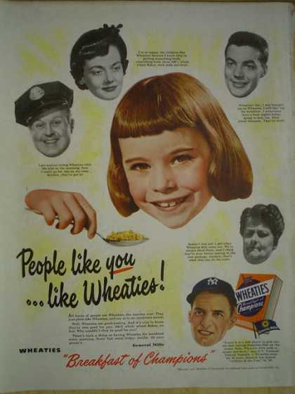 Wheaties Cereal The breakfast of Champions (1950)