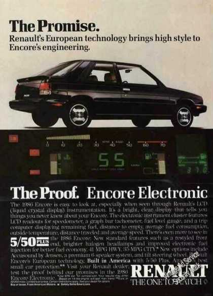 "Renault Encore ""European Technology High Style"" (1986)"