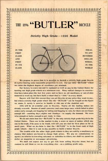 Butler – The 1896 Butler Bicycle (1896)