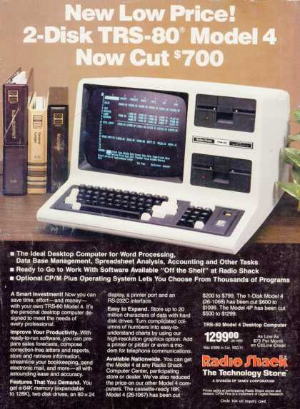 Tandy Corporation's Radio Shack TRS-80 (1984)