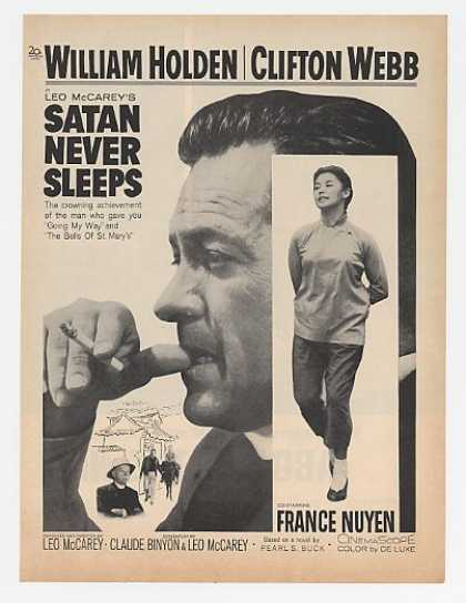 William Holden Satan Never Sleeps Movie Promo (1962)