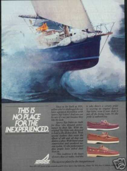 Sailboat Boat Yacht Art Sperry Top Sider Shoe (1983)