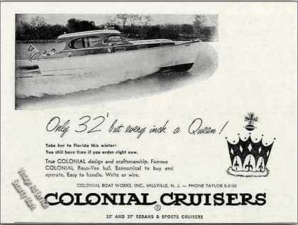 Colonial 32' Cruiser Photo Millville Nj (1955)