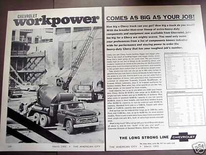 Chevrolet Workpower Trucks Cement Mixer (1965)