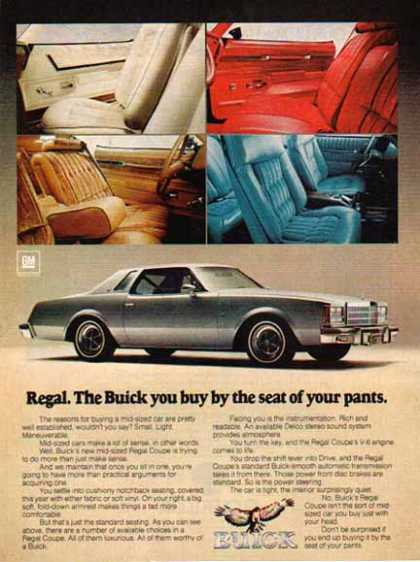 Buick Car – Regal Coupe – Silver (1977)