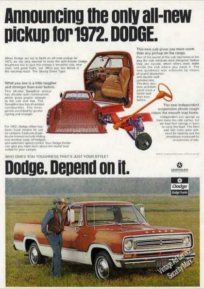 "Dodge Pickup Truck ""Depend On It"" (1972)"