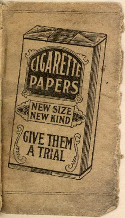 Unknown's Anti-Smoking pamphlet – Cigarette Papers: New Size, New Kind