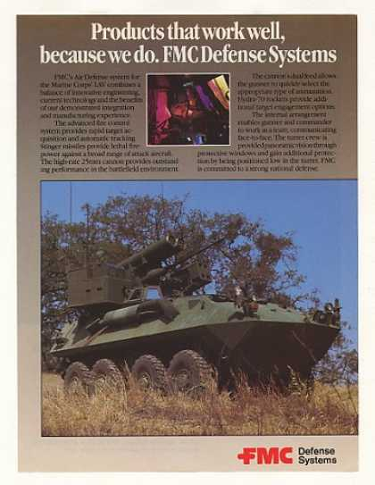 Marine Corps LAV FMC Air Defense System Photo (1989)