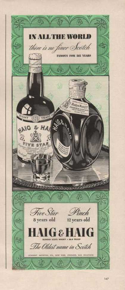 In All the World Finer Scotch Haig & Haig (1942)