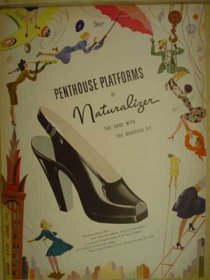 Penthouse Platforms Naturalizer shoe (1946)