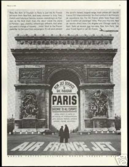 Arch of Triumph Paris Air France Airlines (1960)