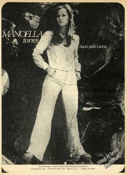 Manoella Torres Photo Music Promo (1976)