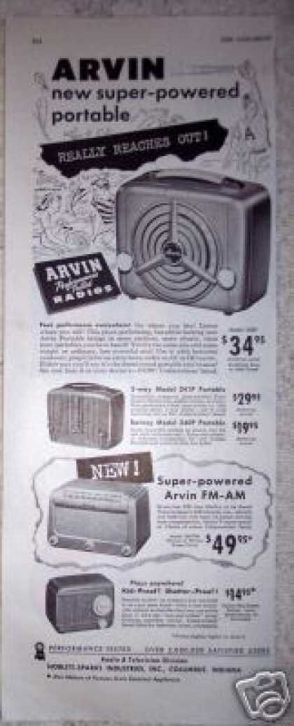 Arvin Super Powered Portable Radio (1949)