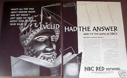 Euclid Quote Nbc Red Radio Network Promo (1939)