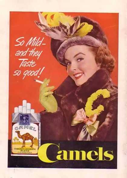Camels Cigarettes – Woman in Mink Coat (1949)