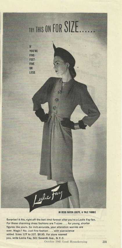 Leslie Fay Womens Dress (1945)