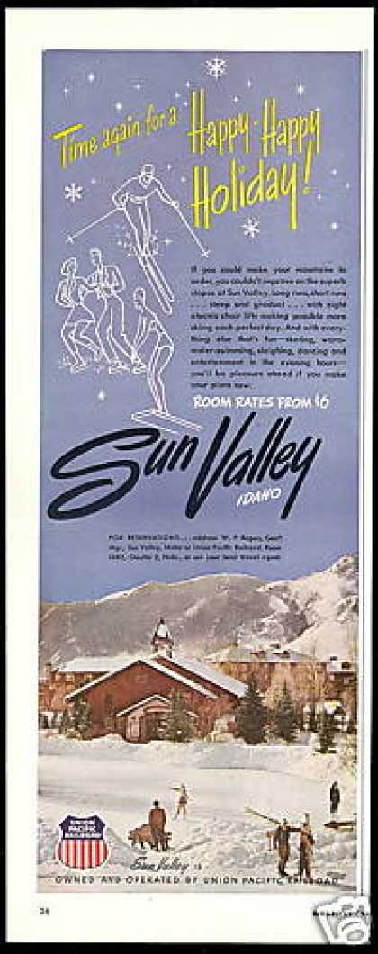 Ski Sun Valley Idaho Rooms From 6 Dollars (1950)