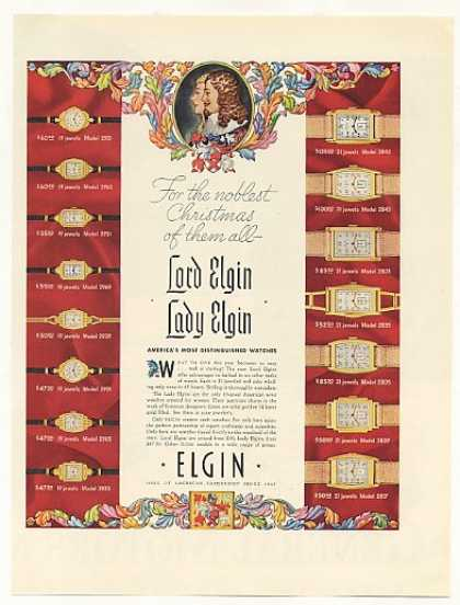 Lord and Lady Elgin Watches 15 Styles (1937)