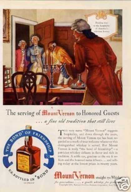 Mount Vernon Straight Rye Whiskey (1940)