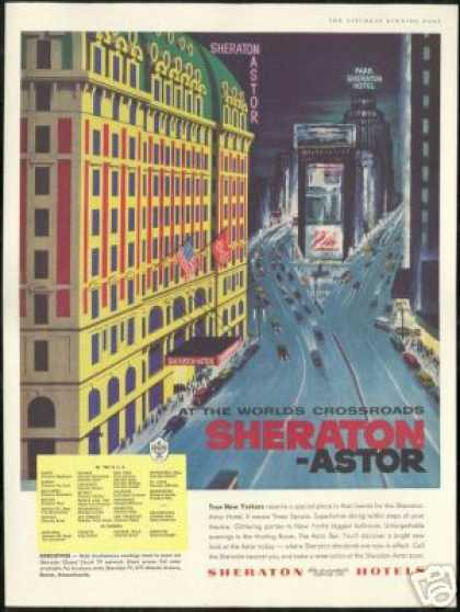 New York Sheraton Astor Hotel & Park Art (1956)